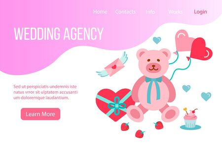 Design website, landing page or presentation template for wedding company or dating agency.