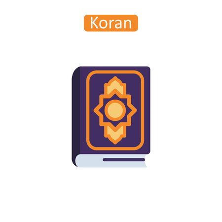 Koran book icon. Muslim holy book sign for website or mobile application.