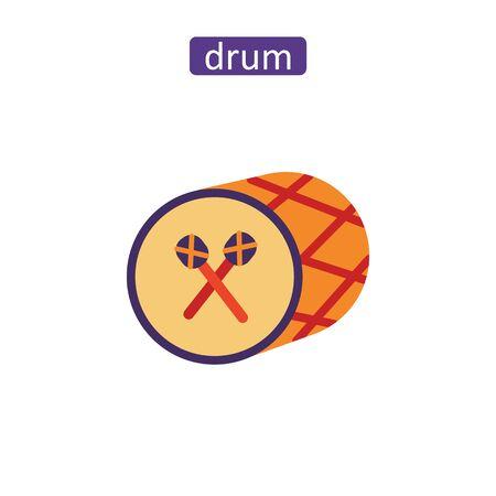 East drum icons set.