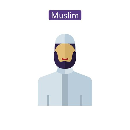Muslim bearded man icons. Çizim