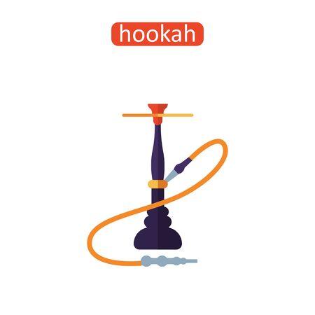 East hookah flat icon.