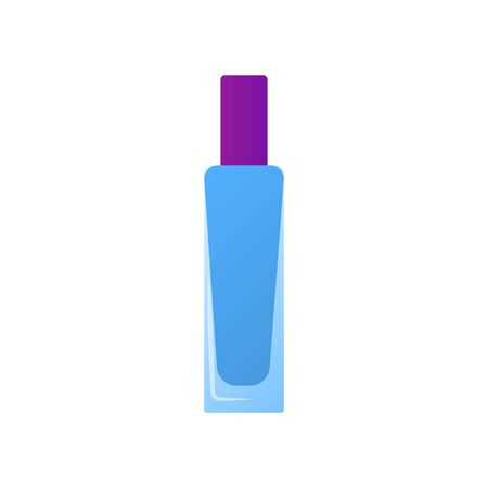 Simple bottle in stylish tube for concealer or foundation, gradient color style. Fashion cosmetic product. Element personal care, isolated on white background. Icon make-up. Flat vector illustration