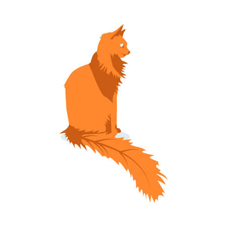 Cute carrot cat pet animal. Adorable kitten with funny face expression cartoon vector illustration isolated on white background