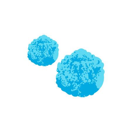 Microscopic unicellular bacteria, germ or virus. Allergen, epidemic pathogenic microorganism, virus, protozoa, disease causing object vector illustration isolated on white background