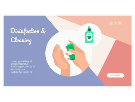 Protect against virus landing page template design