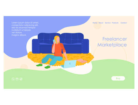 Hire freelancers and find freelance landing page