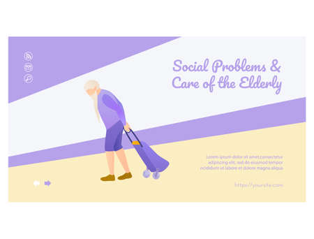 Social problems and care of elderly landing page.
