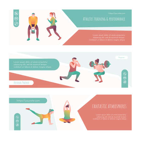 Athletes trainer and performance landing page set