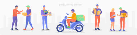 Fast and free delivery service concept vector illustration