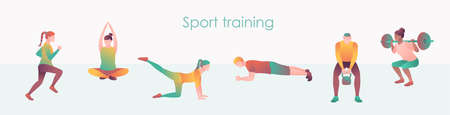 Athlete and fitness training web page template