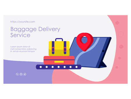 Luggage delivery service mobile app page design