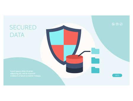 Data analysis tools web page flat design