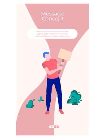 Successful business web page template flat design Ilustração
