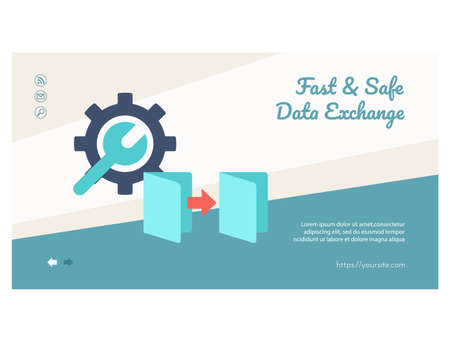 Fast and safe data exchange landing page