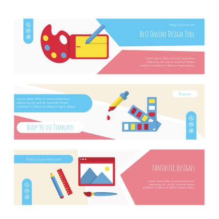 Best online design tools web page or banner set