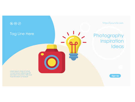 Creative ideas web page or banner flat template