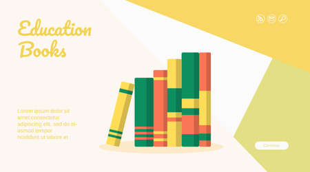 Education book web page mobile app template design