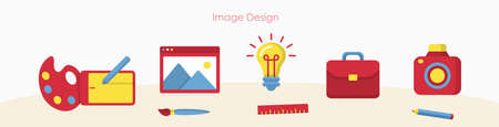 Designer tools or art education signs banner set