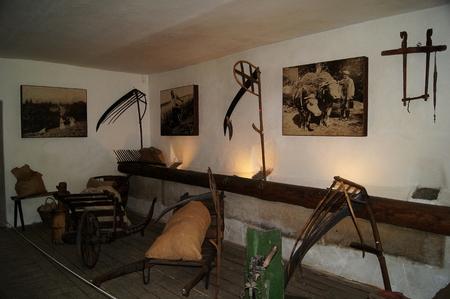 farm implements: Dlaskův Farm Museum Editorial