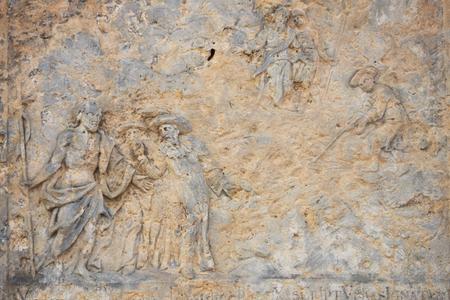 ravaged: Probably life sv.Huberta patron saint of hunters Stock Photo