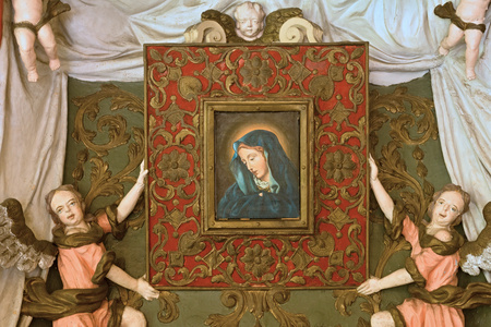 18th century: Baroque painting of the Virgin of the Snows
