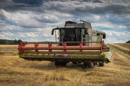 hectares: harvester at work