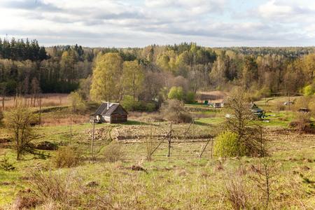 chalet: landscape with village houses