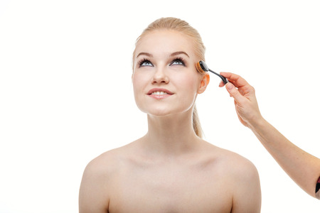 Professional make up applying by artist