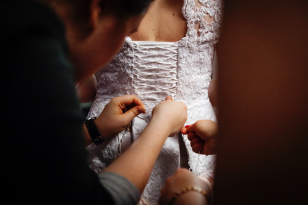 Lacing on a wedding dress