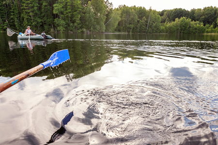 oar paddle from row boat