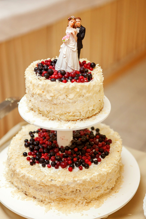 topper on a wedding cake