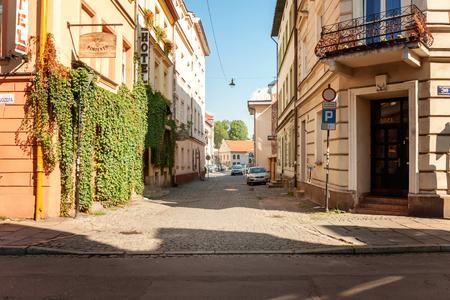 Krakow old city center view