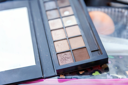 make-up palette close up