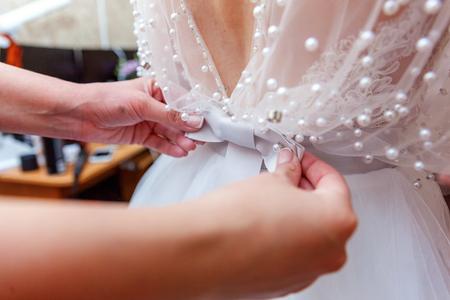 Lacing on a wedding dress