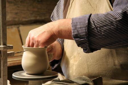 artifice: Pottery Making Stock Photo
