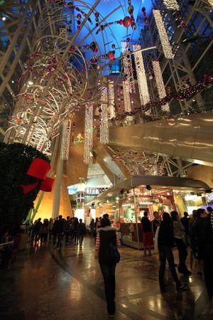 Festive shopping mall, Mongkok, Hong Kong, China photo