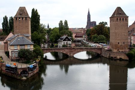 barrage: View from the Barrage Vauban, Strasbourg, France Stock Photo