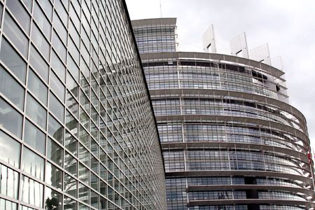 The European Parliament, Strasbourg building, France photo