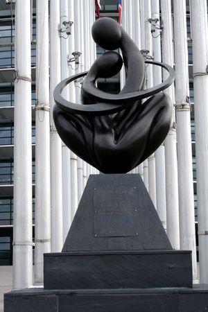 coeur: Europa een Coeur, monumentale sculptuur in het Europees Parlement, Straatsburg