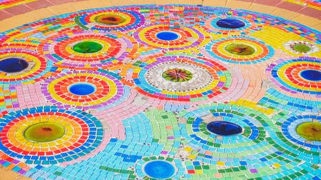 mosaic floor: Old mosaic Ceramic floor decorative
