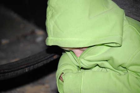 scared child: ni�o asustado Foto de archivo