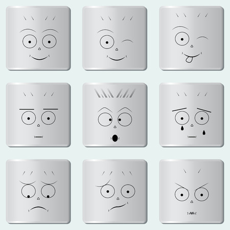 smileys: Smileys buttons  emoticons
