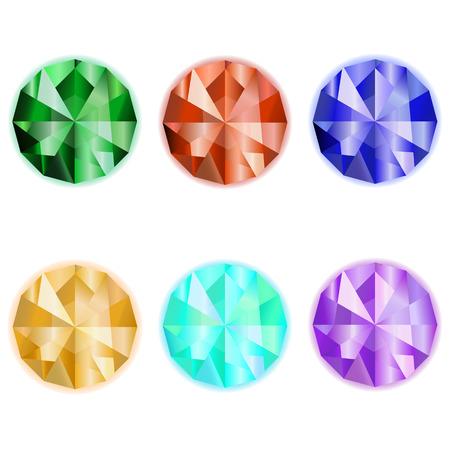 Gems vector. Emerald. Sardius. Sapphire. Topaz. Collection gem stones icon for game design. Gemstone on a white background
