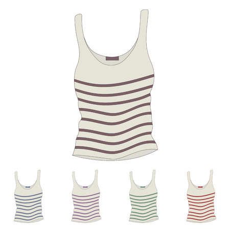 singlet: singlet vector female singletsleeveless shirts Illustration