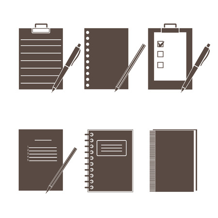 office supplies: Set of vector icons of office supplies.