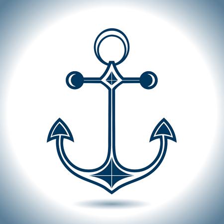 Anchor vector icon. Nautical theme.