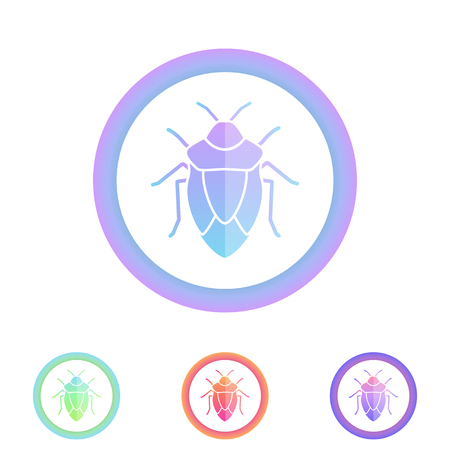 coleoptera: Beetle vector icon. Antivirus protection concept. Insect