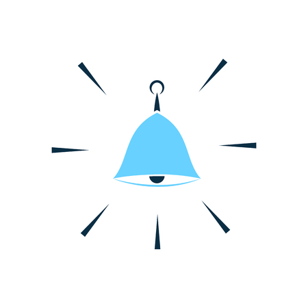 syllable: Hand bell vector icon. Security alarm concept. Illustration
