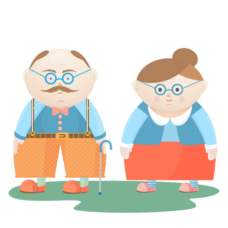 Nationale grootoudersdag. Grappige grootvader en grootmoeder.