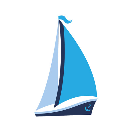 A ship with sails and an anchor for water competitions
